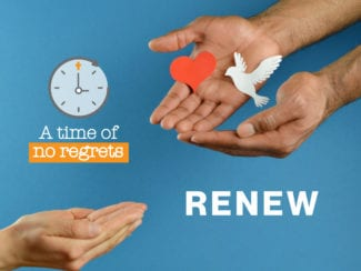 A time of no regrets: Renew