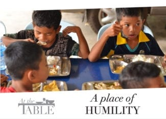 At the table: A place of humility